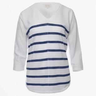 - Hidoo Stripe V-Neck - White