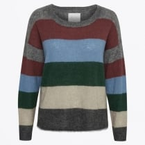 - Ibby Stripe Mohair Sweater - Artwork