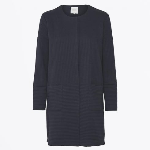 Part Two - Ilia ¾ Length Jersey Jacket - Navy