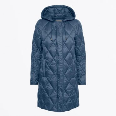 - Ilja - Hooded Padded Jacket - Navy