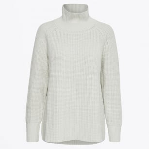 - Ivelia High Neck Rib Knit - Grey