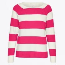 - Kasmira Stripe Pullover - Artwork Medium Pink