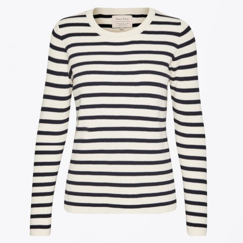 Part Two - Konja Striped Ribbed Sweater