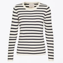 - Konja Striped Ribbed Sweater