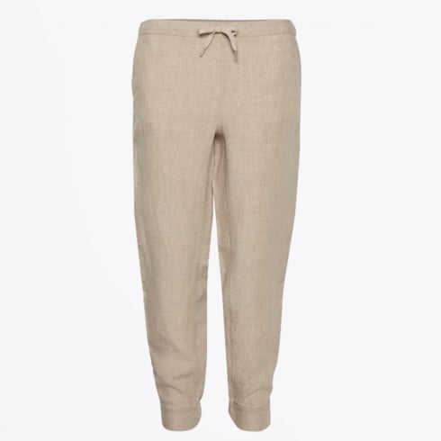 Part Two - Krissy Linen Ankle Length Pants - Natural