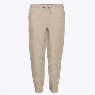 - Krissy Linen Ankle Length Pants - Natural