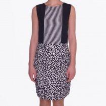 | Lasanne Panelled Dress - Black/White