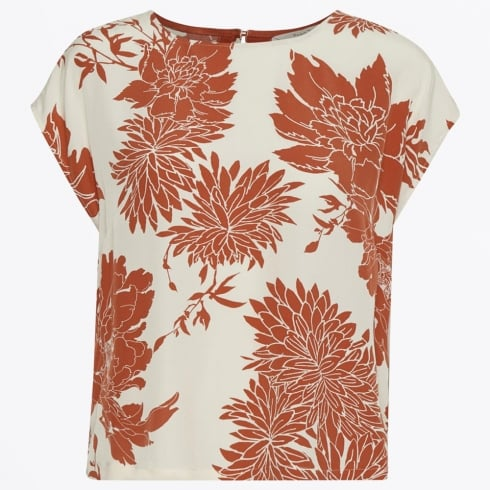 Part Two - Lisette Floral Print Top - Light Orange