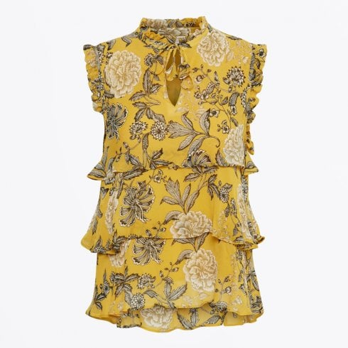 Part Two - Marina Floral Print Top - Yellow