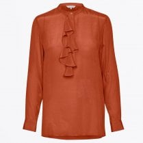 - Marlena - Ruffle Front Top - Orange