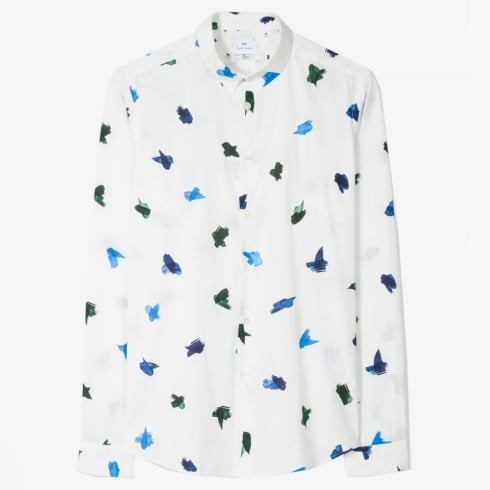 PS Paul Smith - Paint Stroke Shirt - White