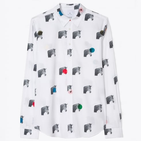 PS Paul Smith - Zebra Print Shirt - White