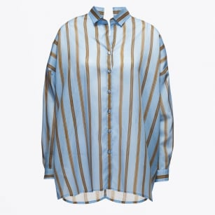| Piccone Loose Stripe Shirt - Blue