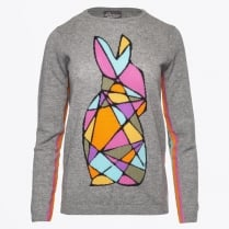 - Bunny Intarsia Sweater - Shark Skin Grey