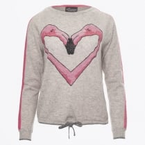 - Flamingo Grey Cashmere Sweater