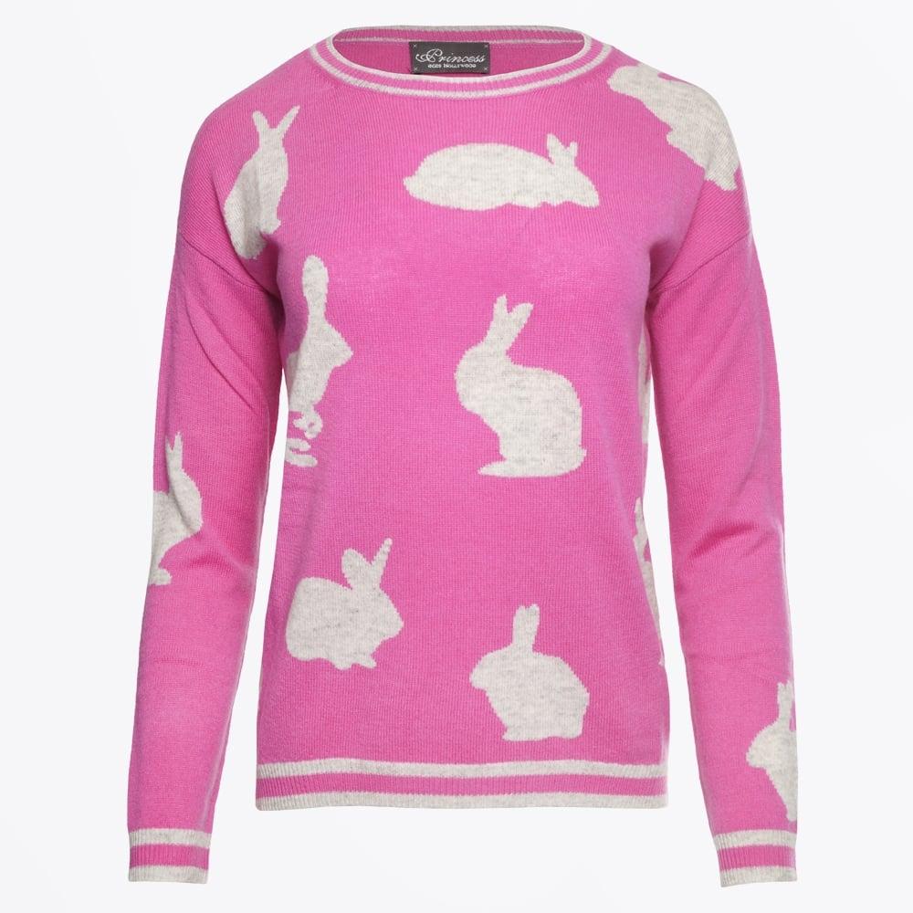 princess goes hollywood rabbit sweater pink mr mrs stitchn. Black Bedroom Furniture Sets. Home Design Ideas