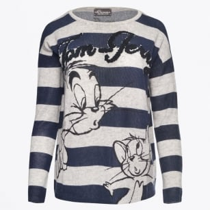 - Tom & Jerry Sweater - Navy