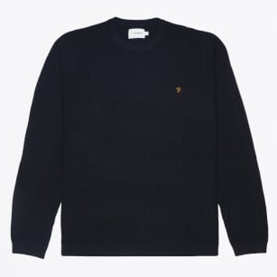 - Hastings Textured Sweater - Navy