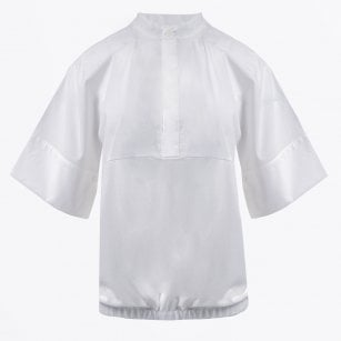 - Cotton Short Sleeve Shirt - White