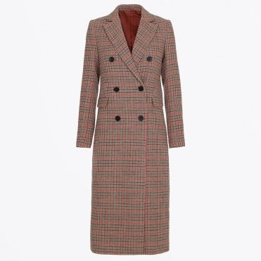 - Checked Duster Coat - Multi