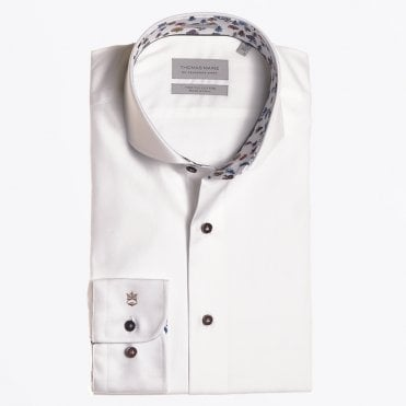 - Tree Print Insert Shirt - White