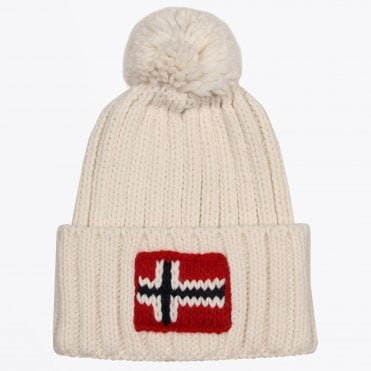 - Semuiry Bobble Hat - White