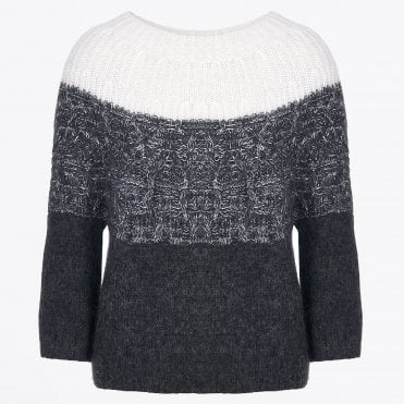 - Olli - Wool Ombre Jumper - Grey/Ivory