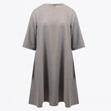 - Wool Swing Dress - Grey