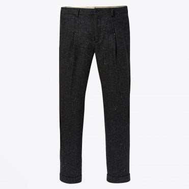 - Blake - Pleated Wool Pant - Grey