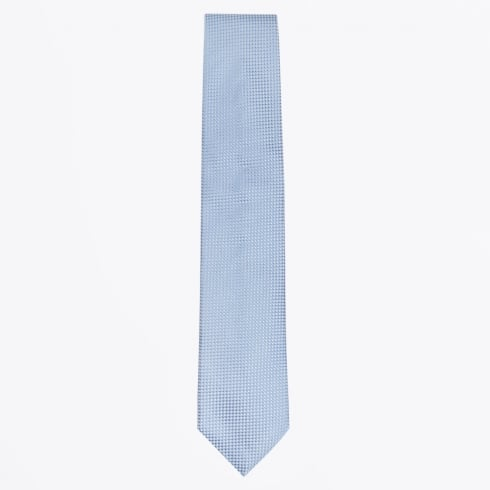 Profuomo - Silk Woven Check Patterned Tie - Blue