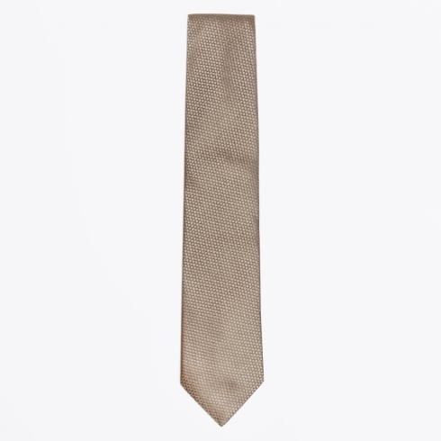 Profuomo - Silk Woven Patterned Tie - Camel