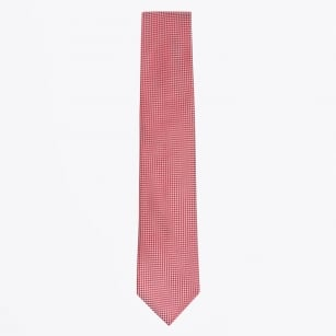 | Silk Woven Patterned Tie - Red