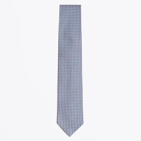 Profuomo - Silk Woven Patterned Tie - Royal Blue