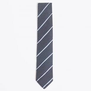 | Silk Woven Tie - Navy