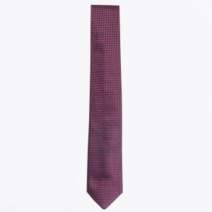 | The Bordeaux Silk Woven Tie