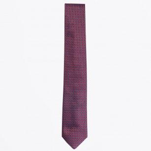 | The Bordeaux Silk Woven Tie