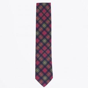 | The Burgundy Wool Print Tie