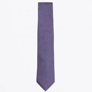| The Gold Silk Dot Print Tie