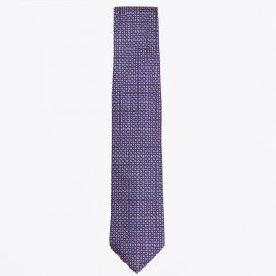 | The Gold Silk Dot Print Tie