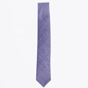 | The Grey Silk Woven Tie