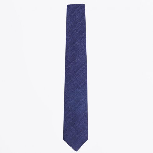 Profuomo - The Navy Cotton Mix Woven Tie