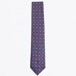| The Navy Silk Woven Tie