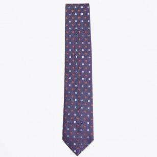 | The Navy Silk Woven Tie