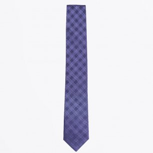 | The Navy Striped Silk Woven Tie