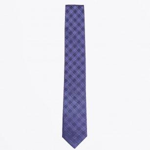 | The Navy Striped Silk Woven Tie
