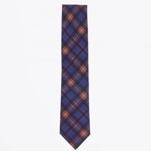 | The Navy Wool Print Tie