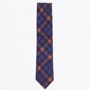 | The Navy Wool Print Tie