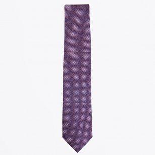 | The Orange Silk Dot Print Tie