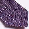 Profuomo - The Orange Silk Dot Print Tie