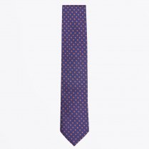 - The Orange Silk Woven Contrast Tail Tie